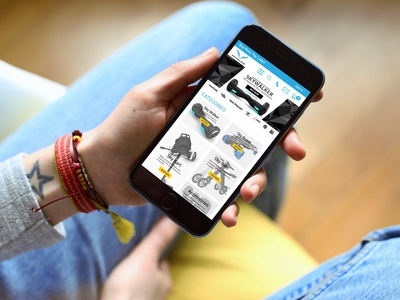 eCommerce web Mobile View PSD Design