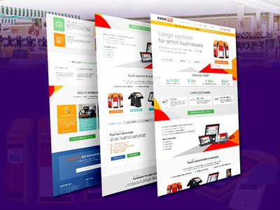 Landing Page PSD Template Design