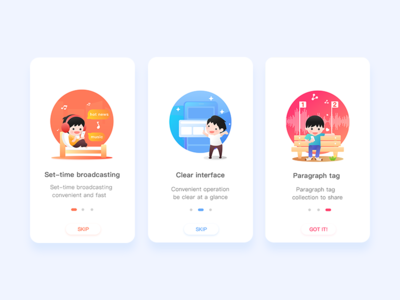 Onboarding  Illustrations fm signup sign simple login delivery music gradient onboarding ux ui