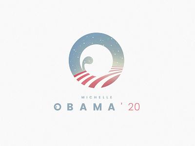 Michelle Obama campaign logo logo blue woman female states presidency elections usa trump donald michelle obama