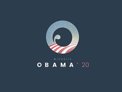 Michelle Obama 2020 campaign logo obama michelle donald trump usa elections presidency states woman blue logo