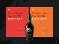 Balsoy is SOTD on Awwwards.
