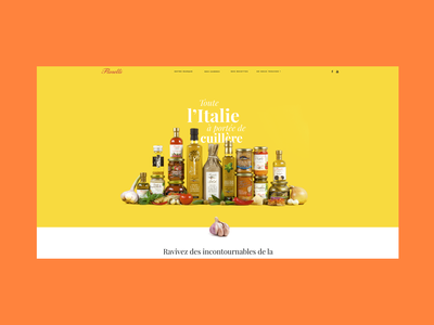 Florelli's Home Page products scene packshot clean minimal simple pasta florelli italian sauce yellow coloured food colored home page
