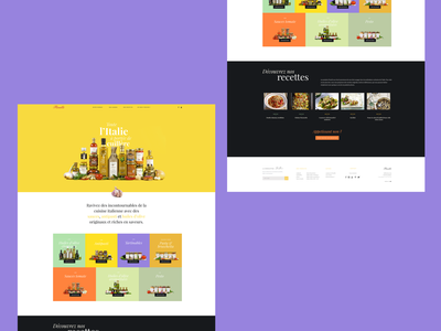 Florelli home page colorful colored sauce food italian minimal simple grid ui ux landing page florelli home page