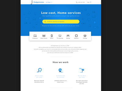 Home services website  delivery search mobile computer webpages web design website landing page home