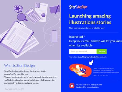 Stori.design logo branding typography website ux vector animaiton freebie freebies subscription email comingsoon design illustration ui
