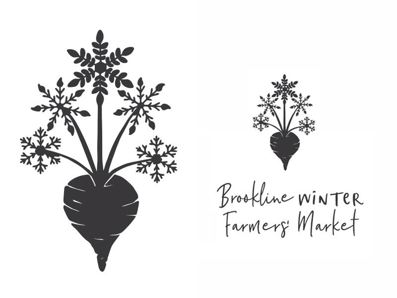 Logo - Brookline Winter Farmers' Market by Charlotte Saul | Dribbble