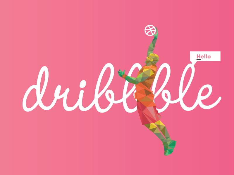 Debut dribbble geometric illustration debut