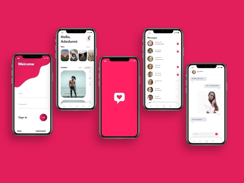 Dating App concept dating love ui illustration