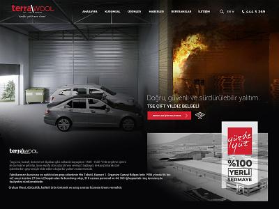 Terrawool Rockwool Insulation Company Website Design fire warm heat agency design web design website manufacturer company rockwool insulation