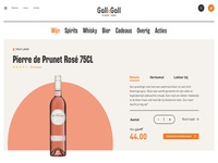E-commerce wine product detailpage