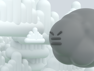 angry cloud arnoldrender modeling cinema4d characterdesign character 3d art 3d