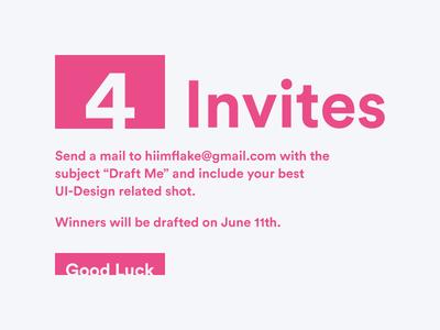 4 Invites Giveaway