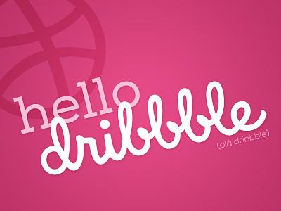 Hello Dribbble :) design brazillian new dribble hello