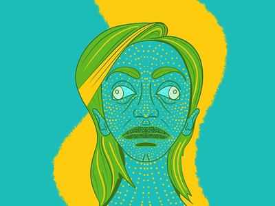 Chameleon lines dots bright colors procreate app portrait colors digital 2d graphic design concept design character illustration