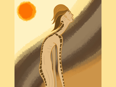 Giraffe giraffe humanoid animalistic lines art concept digital illustration procreate app digital 2d design character