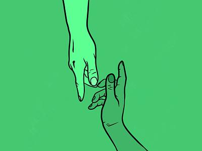 As above? So below. cosmos trismegistus hermes philosophy hands lines hue emerald graphic design digital 2d procreate app ipad pro design art concept illustration