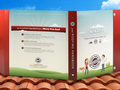 Done Right Roofing 3-Ring Binder w/ Portfolio Flap