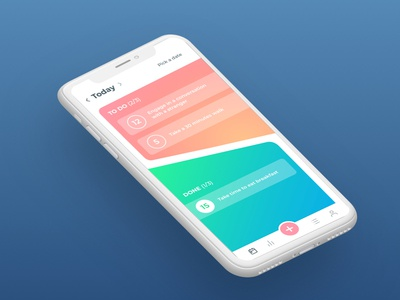 Habits Tracker App gradient color clean concept app ios ui design todos to-do todo habits