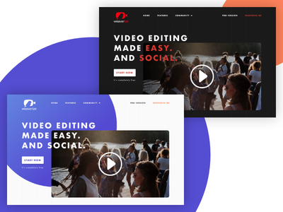 Weaverize Case Study - Iterations movie video redesign website branding landing page landing web design design web ui ux