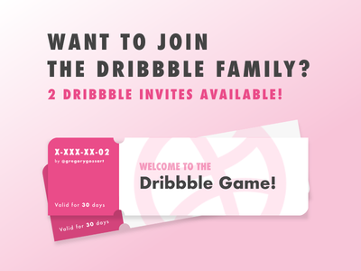 Dribbble Invites x2 debut tickets pink contest giveaway dribbble invite invitation invite invites dribbble prospect draft