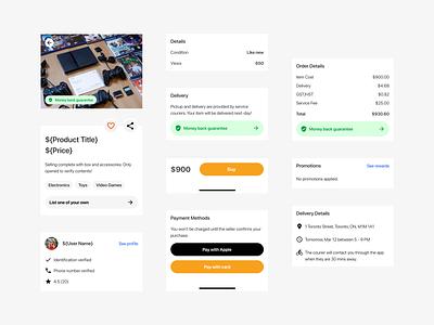 Purchase & Delivery figma design system design app ux ui
