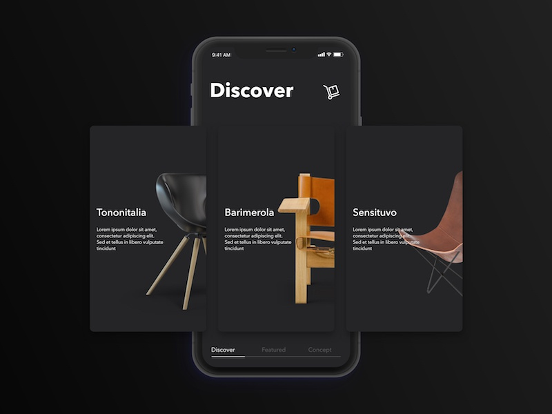 Casa Product ecommerce furniture user experience user interface minimal black product design ios ux ui iphone x mobile app