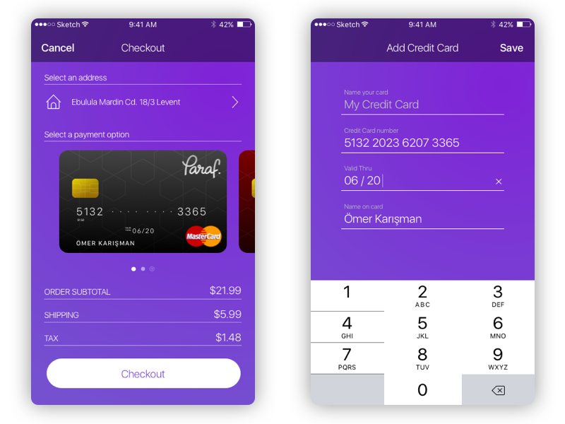 Daily UI #002 - Credit Card Checkout ios card credit checkout ui daily
