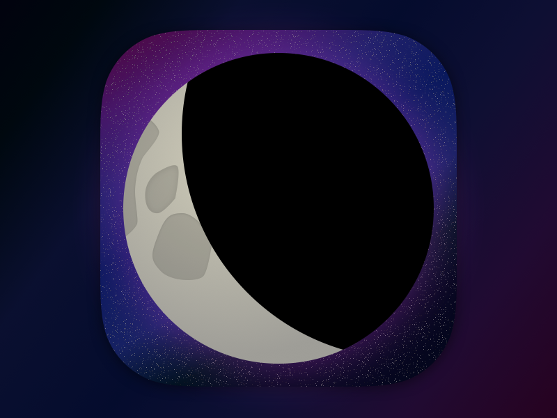 Daily UI #005 - App Icon ui daily space moon ios icon app