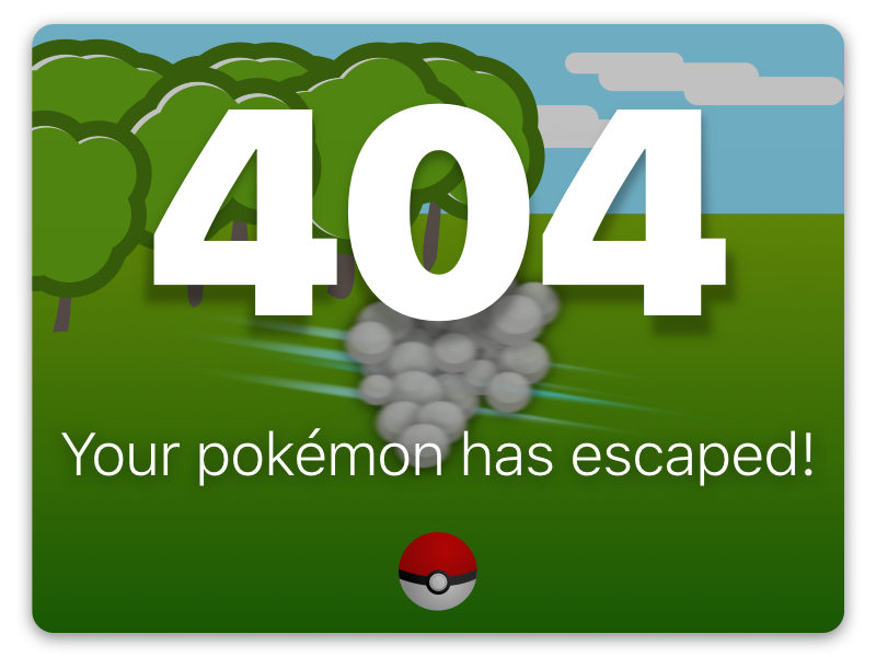 Daily UI #007 - 404 Page found not pokemon page 404 ui daily