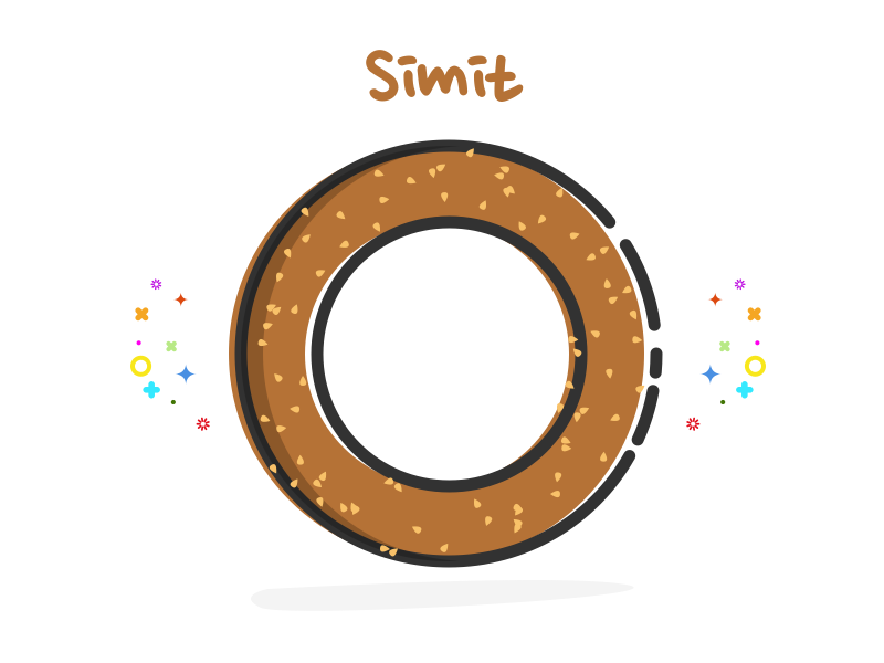 Simit - Savory roll covered with sesame seed bagel turkish simit