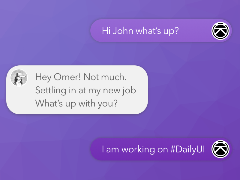 Daily UI #013 - Direct Messaging messaging direct ui daily