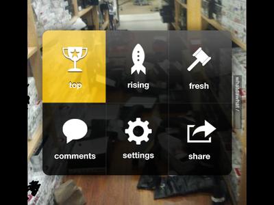 iPhone Call Menu Replica for HaHa app