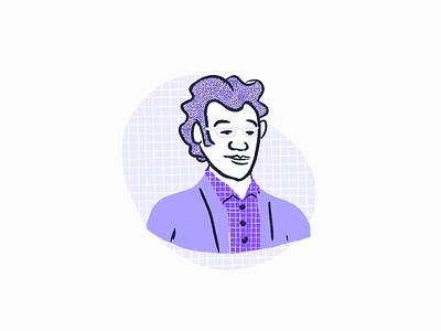 User Persona Illustrations user persona character patterns procreate illustration