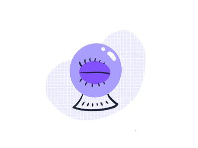 Crystal Ball Animation animation eye illustration procreate