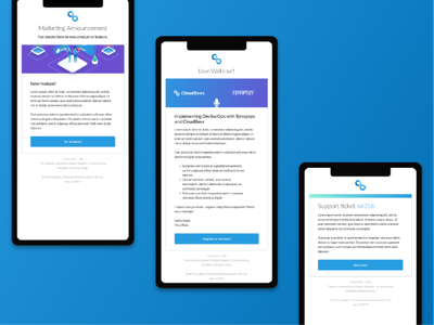 CloudBees Email Templates mobile ui branding template email design ui design