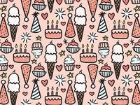 Happy Birthday Surface Design Pattern