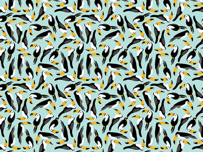 Toucans illustrations wallpaper design toucans