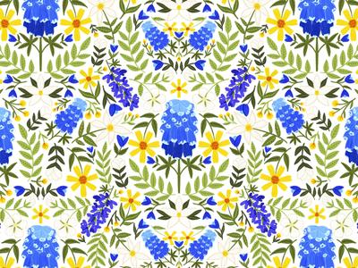 Texas Bluebonnet Pattern