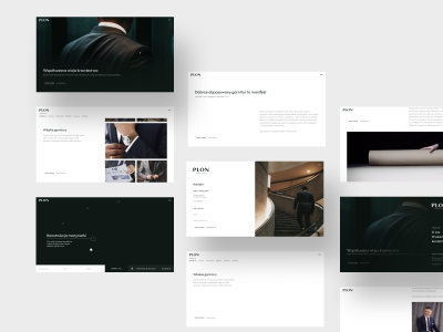 PLON - Neapolitan tailoring webflow fashion tailoring web design logo animation web