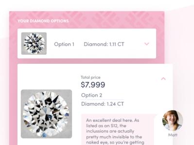 CustomMade - diamond options