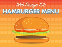 Hamburger Menu Infographic
