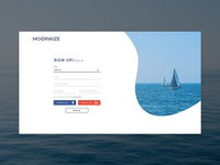 Sign Up Screen for MOORWIZE App