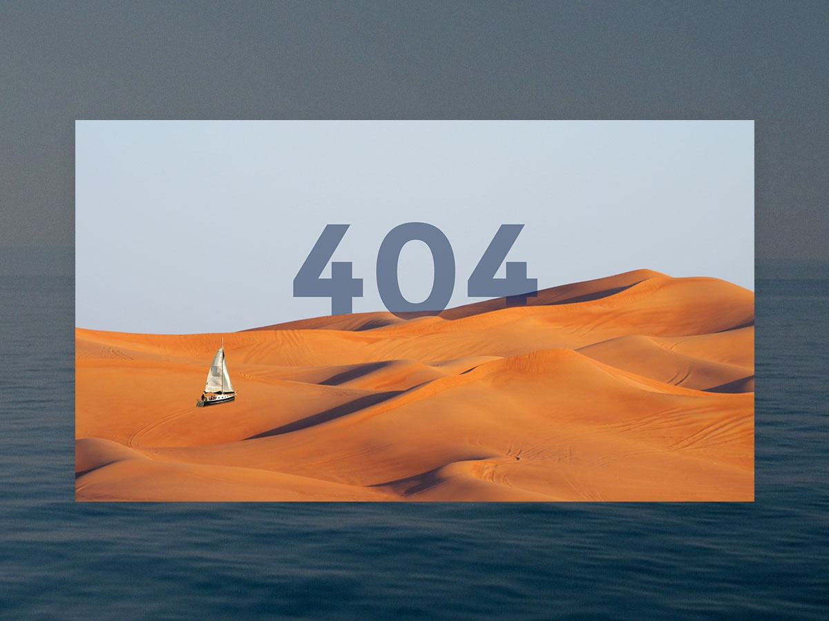 404 Screen for Moorwize boat app. webdesign 404page page design applicaiton illustration website ui ship interface boat
