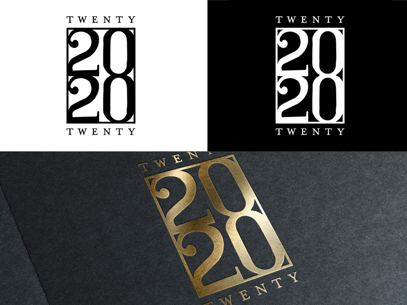 2020 New Year Logo Stamp - Hand Lettered Logo Seal