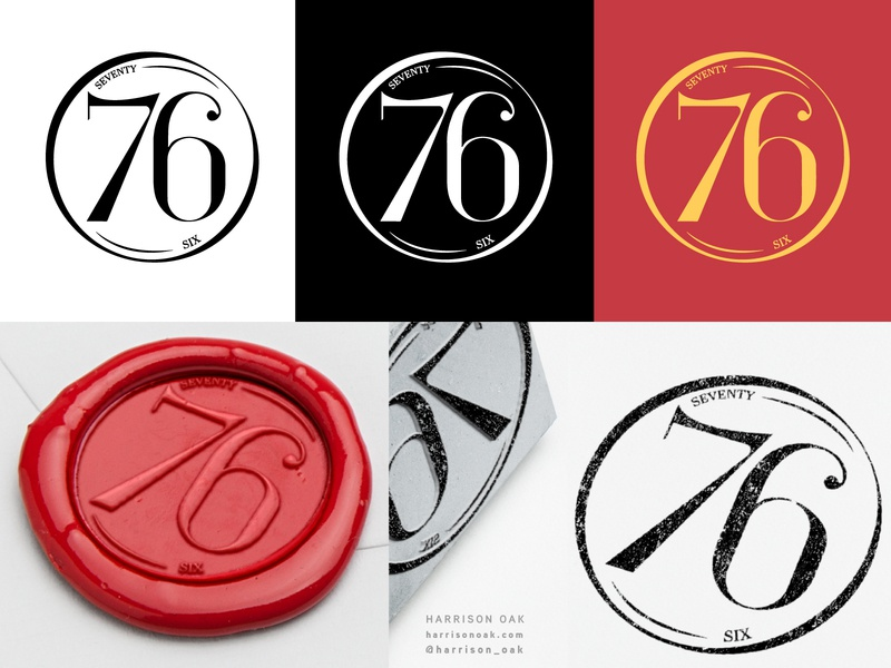 76 Vintage Logo-Stamp | Custom Numbering inspired by Didot