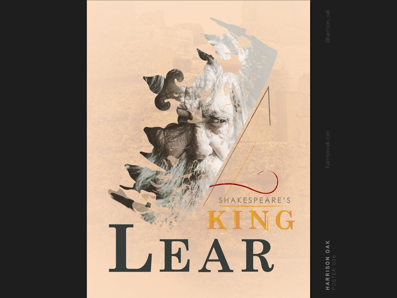 Shakespeare's King Lear - Theater & Event Poster Design