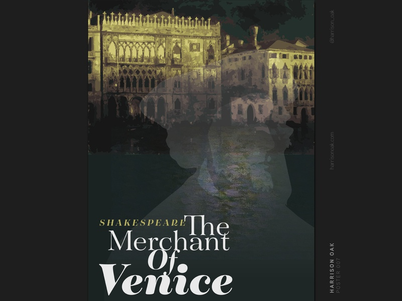 The Merchant of Venice Poster Design - Shakespeare Artwork
