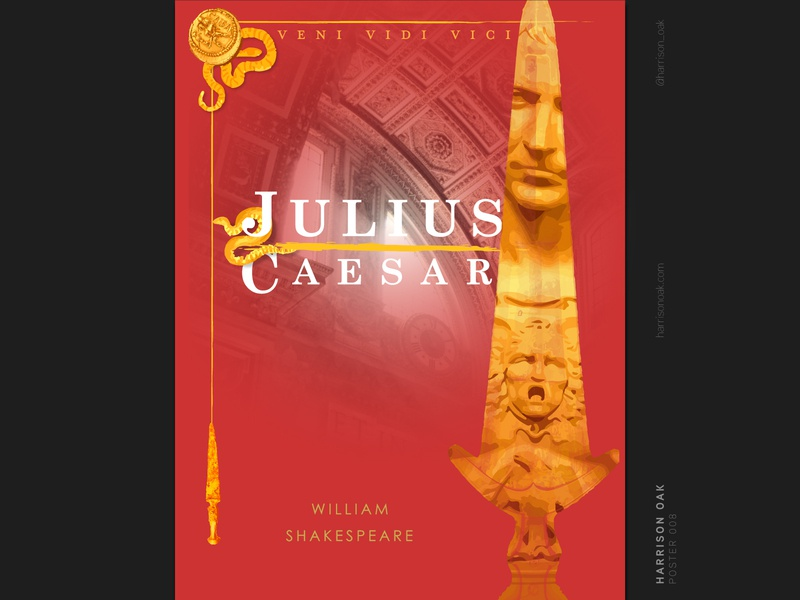 Julius Caesar - Shakespeare Poster Design