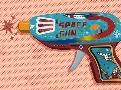 Space Gun/Debut texture vector design illustration